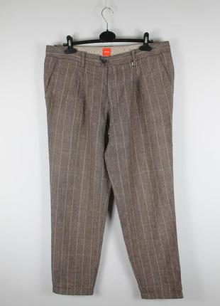 Оригинальные стильные брюки hugo boss stan-w 100% лён