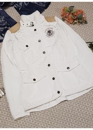 Белая куртка lexington/короткая куртка/стеганая/демисезонная