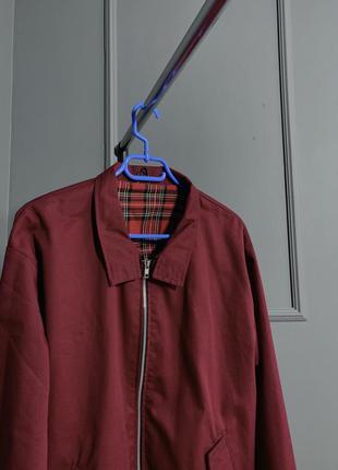 Малиновый бордовый английский бомбер куртка жакет на весну