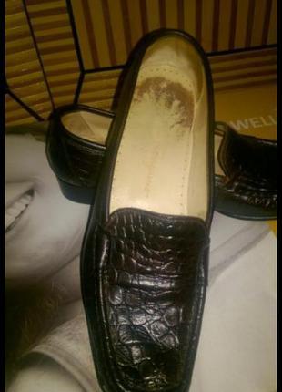 Лоферы. туфли крокодиловая кожа. salvatore ferragamo. туфли ор...