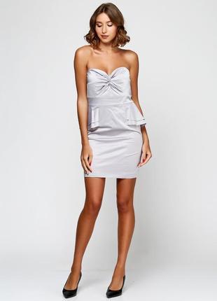 Стильное новое коктейльное платье бюстье vera mont s-m
