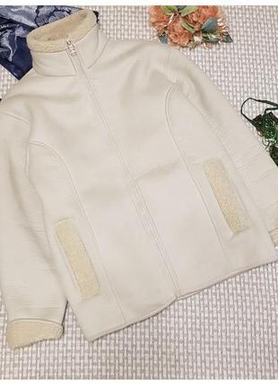 Белая куртка-дубленка arctic storm/авиатор