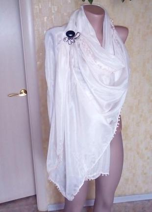 Платок с бубенчиками 1м 90см/платок/палантин/шарф