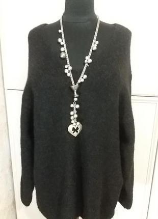 Пуловер h&m(шерсть)р.58-62.много вещей больших размеров