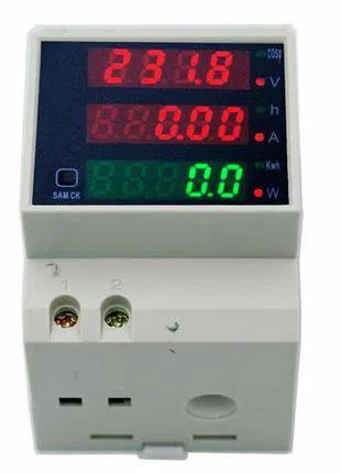 Счётчик электроэнергии, ваттметр D52-2047 на DIN-рейку