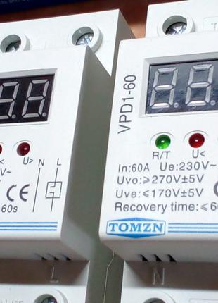 Реле контроля напряжения (устройство защиты) на DIN-рейку 13.2кВт