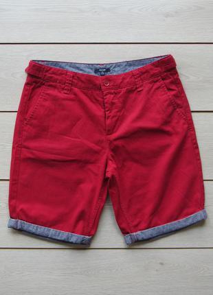 Мужские хлопковые шорты с подворотом манжетом от kiabi