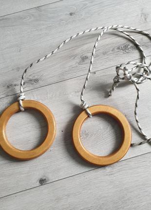 Гимнастические деревянные кольца к шведской стенке