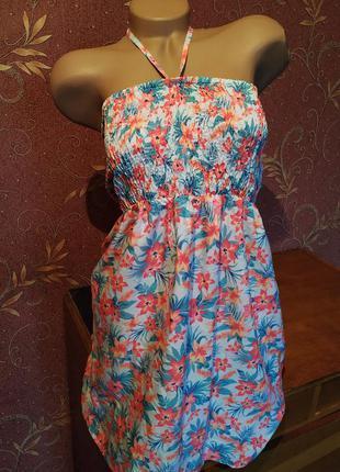 Летнее свободное платье с цветочным принтом от  primark🌺🌞/плат...