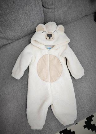 Плюшевый деми комбинезон медвежонок