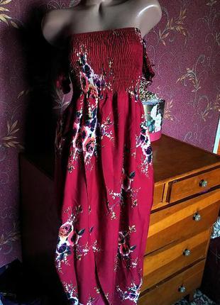 Асимметричное длинное платье/ платье с запахом/ платье с цвето...