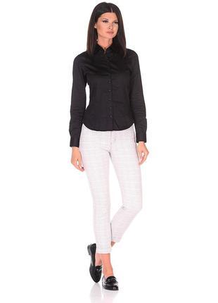 Черная приталенная рубашка,хлопок,zac&rachel