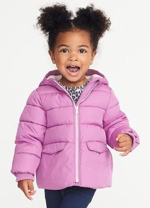 Детская теплая зимняя куртка 3т eur 92 98 old navy сша для дев...