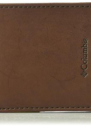 Кожаный кошелек мужской columbia фирменный портмоне оригинал и...