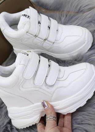 Новые шикарные женские белые сникерсы кроссовки