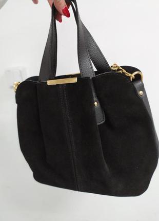 Шикарная сумка из натуральной замши