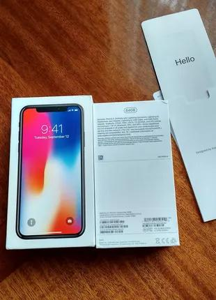 Коробка від IPhone X, Space Gray, 64Gb