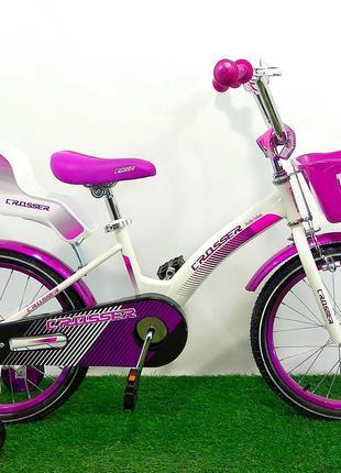 Детский велосипед для девочки Crosser Kids Bike 18 дюймов фиолет