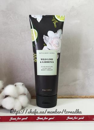 Крем для тела bath and body works - wild lime and gardenia