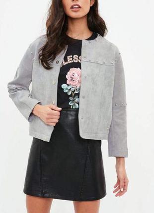 Куртка пиджак замшевый missguided замша