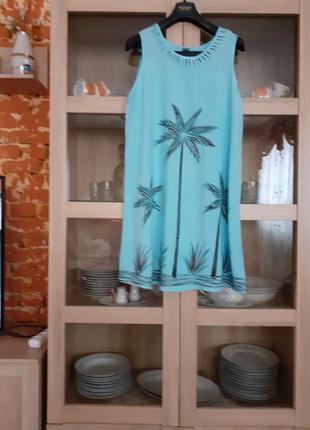 Милое вискозное с вышивкой  платье индия