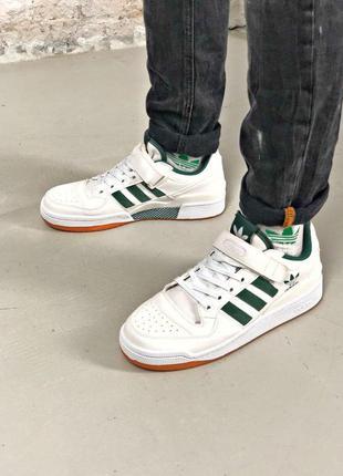 Adidas мужские кожаные кроссовки в белом цвете адидас (весна-л...