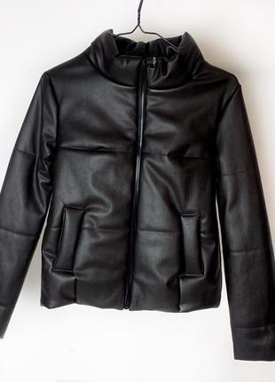 Новая ! кожаная куртка на весну из эко кожи курточка демисезон...