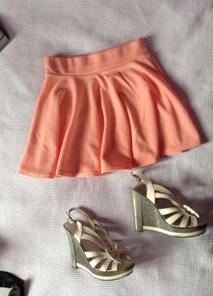 Розовая мини юбка из крамплина очень милая