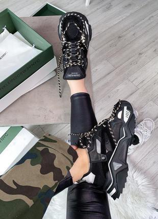 Кроссовки calvin klein strike 205 sneaker black premium шикарн...