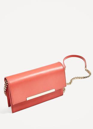 Нова шкіряна сумочка zara