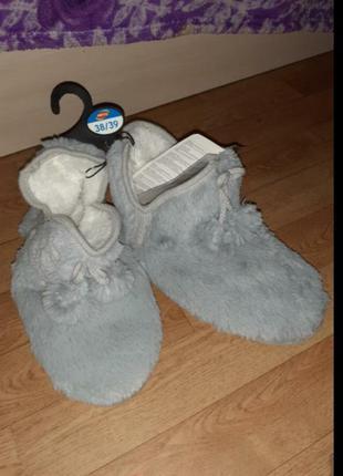 Теплые ,плюшевые домашние сапожки, обувь для дома