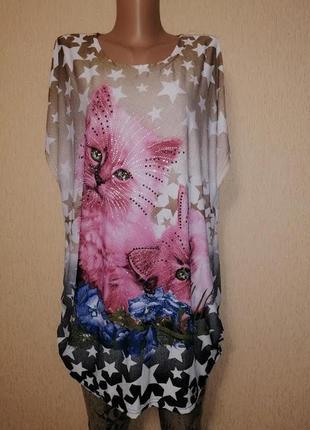 🔥🔥🔥красивая женская футболка, блузка со стразами m2k🔥🔥🔥