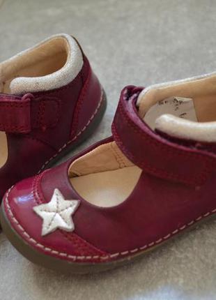 Кожанные туфельки кларкс р.4 стелька 13