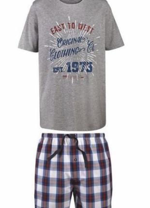 Пижама мужская костюм для дома шорты футболка р. евро 60 62 xx...