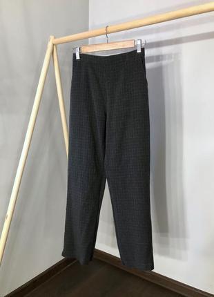 Базовые брюки в гусиную лапку