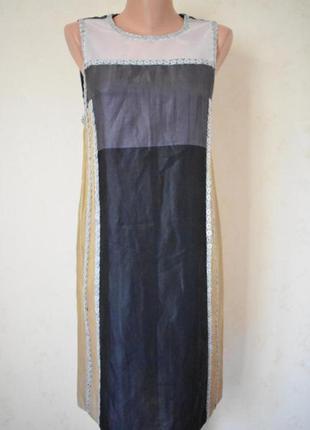 Оригинальное новое итальянское легкое платье pollini