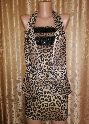 ✨👗✨красивое вечернее леопардовое платье club🔥🔥🔥