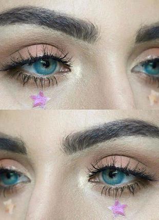 Голубые линзы для карих глаз, для серых, зеленых, голубых глаз