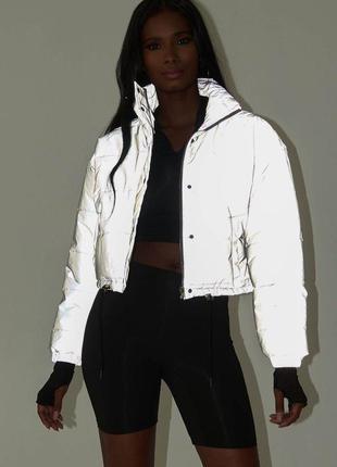 Светоотражающая куртка. укороченная демисезонная куртка