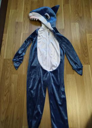 Костюм baby shark  акуленок 3-4 г