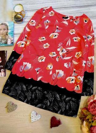 Красивое вискозное платье в цветы. размер 16 (46-48)