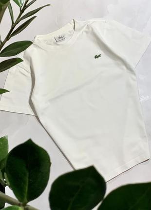 Белая футболка lacoste оригинал
