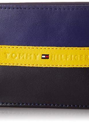 Кожаный кошелек tommy hilfiger фирменный бумажник оригинал из сша