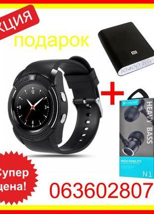 Умные смарт часы В8 Smart Watch V8 розумний смарт годинник фит...