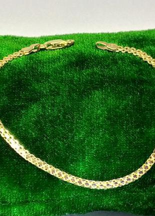 Позолоченный браслет 17 см/3 мм, позолота