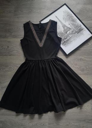 🔥 sale 🔥стильное черное платье 🖤 h&m 🖤