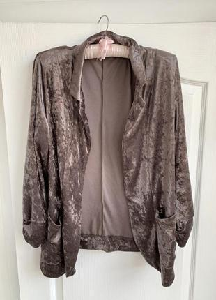 Велюровый пиджак next