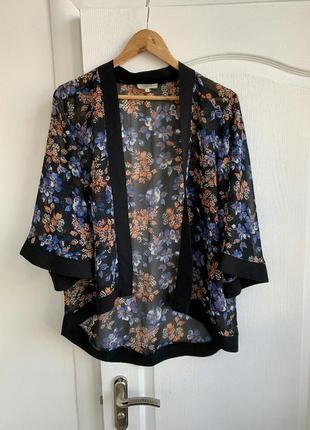 Легкая накидка блузка болеро рукав клеш восточный стиль papaya