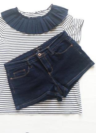 Короткие стрейчевые джинсовые шорты forever 21