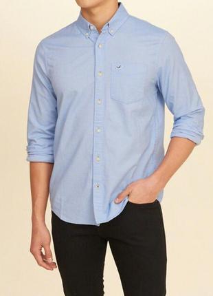 Мужская рубашка хлопковая hollister